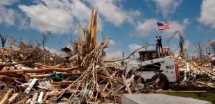 Joplin, after the tornado. USA